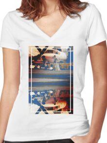 CRA Flight Deck 1 Warm Women's Fitted V-Neck T-Shirt