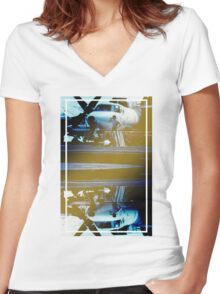 CRA Flight Deck 1 Cool Women's Fitted V-Neck T-Shirt