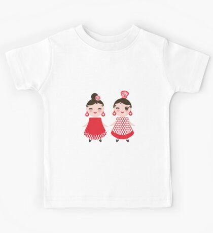 Flamenco girls Kids Tee