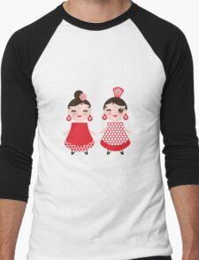 Flamenco girls Men's Baseball ¾ T-Shirt