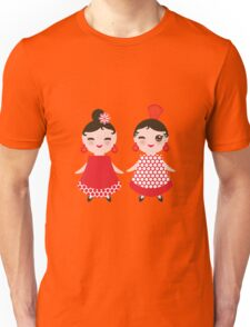 Flamenco girls Unisex T-Shirt