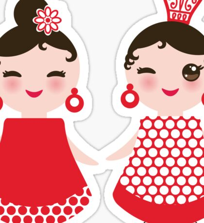 Flamenco girls Sticker