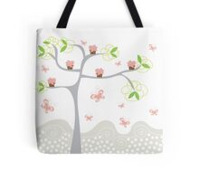 Whimsical Pink Cupcakes Tree Tote Bag