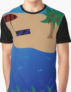 Ocean and Beach Scene Graphic T-Shirt