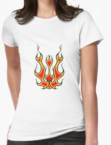 Feuer kunst  Womens Fitted T-Shirt