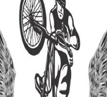 biker : bicycle adrenaline Sticker