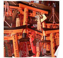 Fushimi Inari Tori Gate Boards Poster