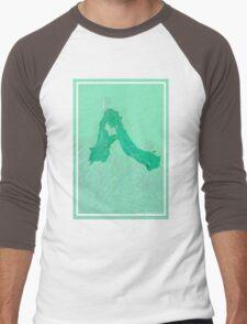 CRA A Green Men's Baseball ¾ T-Shirt