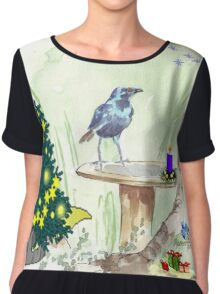 The Starling and Christmas in Africa Chiffon Top