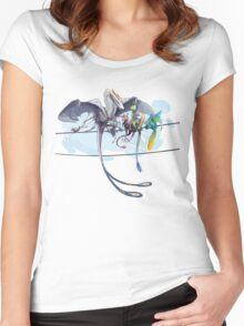 Dragons on a Wire Women's Fitted Scoop T-Shirt