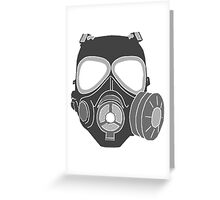 Graffiti Gas Mask Greeting Card