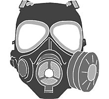 Graffiti Gas Mask Photographic Print