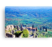 Above the Plain of Sparta, Greece, Spring 1960 Canvas Print