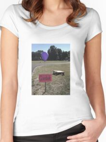 Cornhole Women's Fitted Scoop T-Shirt
