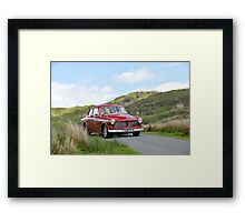 The Three Castles Welsh Trial 2014 - Volvo 123 GT Framed Print