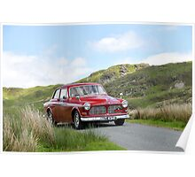 The Three Castles Welsh Trial 2014 - Volvo 123 GT Poster