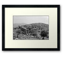 Temple of Apollo Epicurius, Bassae, Greece  Framed Print
