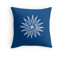 Papercut star 3 Throw Pillow