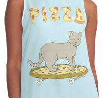 Pizza Kitty Contrast Tank