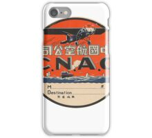 Vintage CNAC Luggage Label iPhone Case/Skin
