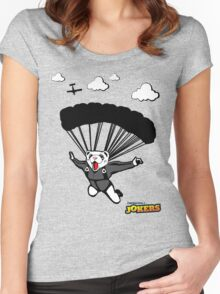 Skydiving Ferret  Women's Fitted Scoop T-Shirt