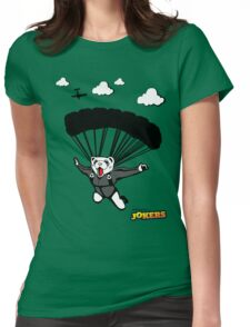Skydiving Ferret  Womens Fitted T-Shirt