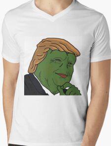 Trump Pepe Mens V-Neck T-Shirt