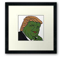 Trump Pepe Framed Print
