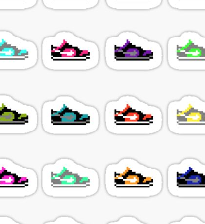 Shoe Pixels Sticker