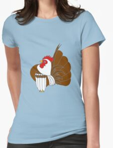 Silver Cocopop (Partridge Base) Womens Fitted T-Shirt