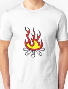 Feuer holz lagerfeuer  Unisex T-Shirt