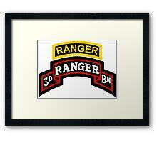 3rd Ranger +tab Framed Print