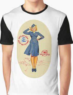 Vintage TWA Luggage Label Graphic T-Shirt