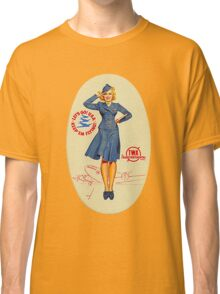 Vintage TWA Luggage Label Classic T-Shirt