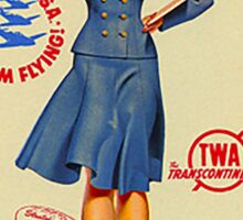 Vintage TWA Luggage Label Sticker