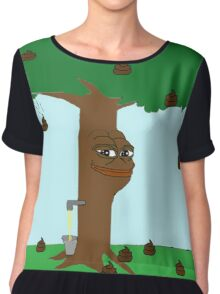 Pepe Piss and Poop tree Chiffon Top