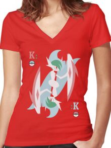 Gallade, King Women's Fitted V-Neck T-Shirt