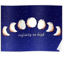 Infinity Moon Phases Poster