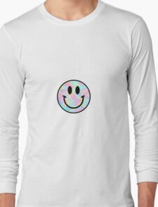 Smiley Face Trippy Long Sleeve T-Shirt