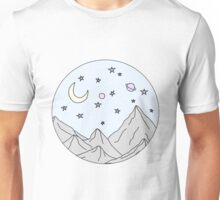 Sky and Mountain Scene Unisex T-Shirt