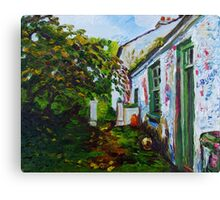 Garden Path, Rear of Former Abandoned Clachan, Ballyharry, Islandmagee, County Antrim. Canvas Print