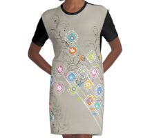 My Groovy Flower Garden Grows Graphic T-Shirt Dress