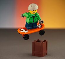 Skater jumping - Lego  by Peter Kappel