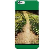 Path of Flowers in Bloom iPhone Case/Skin