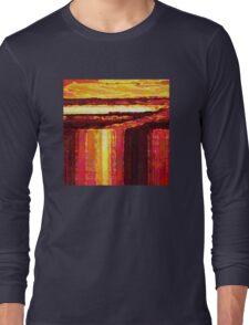 Waterfall at Sunset Long Sleeve T-Shirt