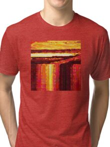 Waterfall at Sunset Tri-blend T-Shirt