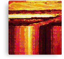 Waterfall at Sunset Canvas Print