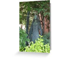 The Statue Greeting Card