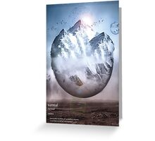 Surreal Mountain  Greeting Card