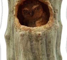 Elf Owl in Cactus Sticker